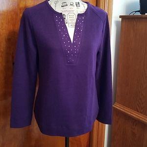 Pretty purple long sleeve sweater